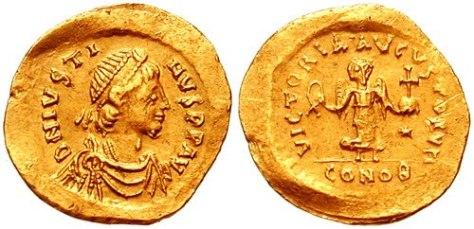 """Moeda romana """"talento"""". 01 talento = 60 minas e 01 mina = 100 dracmas, portanto 01 talento = 6000 dracmas."""